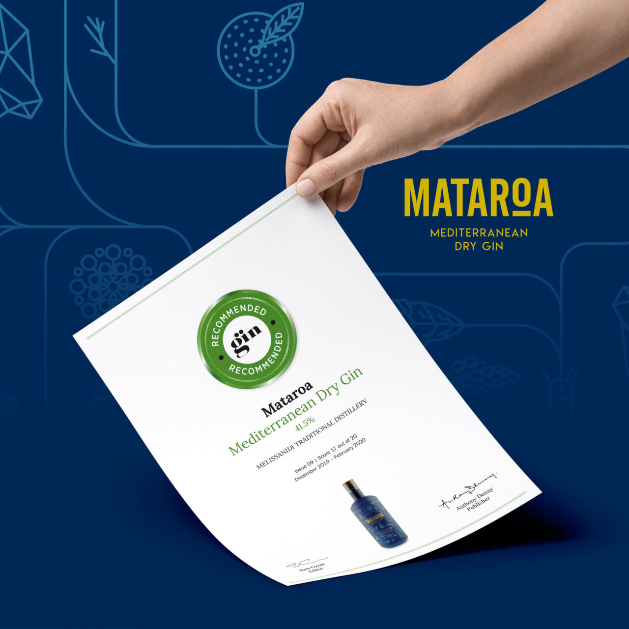 High score for our Mataroa Gin by the experts of the Gin Magazine