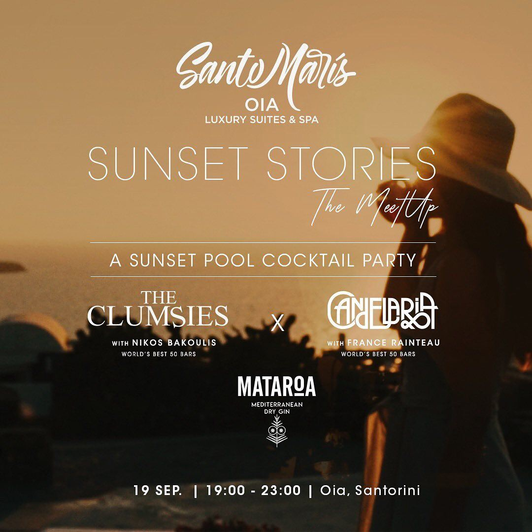 Two of the best bars in the world create signature cocktails with Mataroa in Santo Maris Oia